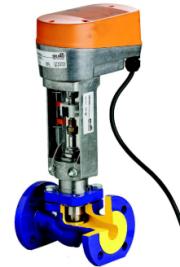 Клапани регулюючі чавунні фланцеві з електроприводом арт. 227 ZETKAMA