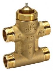 Сідельні регулюючі 3-х ходові клапани, різьбові VZL4