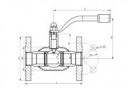 Кран шаровый стальной фланцевый полнопроходной для газа BROEN Ballomax