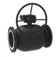 Кран шаровый стальной фланцевый полнопроходной с механическим редуктором BROEN Ballomax