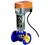 Клапаны регулирующие чугунные фланцевые с электроприводом арт. 227 ZETKAMA