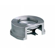 Клапан зворотній дисковий міжфланцевий з нержавіючої сталі арт. 275 ZETKAMA