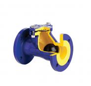 Клапан зворотний каналізаційний чавунний фланцевий арт. 400 ZETKAMA