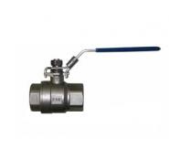 Кран кульовий муфтовий повнопрохідний з нержавіючої сталі арт. 660 IVR