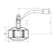 Кран шаровый стальной муфтовый полнопроходной для газа BROEN Ballomax