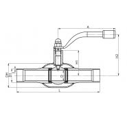 Кран шаровый стальной под приварку полнопроходной для газа BROEN Ballomax
